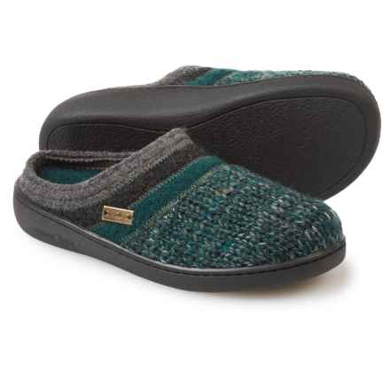 Haflinger AT Power Slippers - Boiled Wool (For Women) in Teal - Closeouts