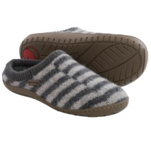 Haflinger AT Senso Boiled Wool Slippers (For Women) in Grey - Closeouts