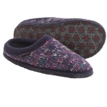 Haflinger Meadow Slippers - Boiled Wool (For Women) in Eggplant - Closeouts