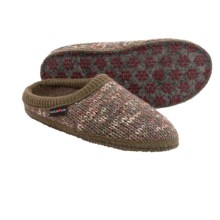 Haflinger Meadow Slippers - Boiled Wool (For Women) in Khaki - Closeouts