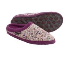 Haflinger Meadow Slippers - Boiled Wool (For Women) in Purple - Closeouts