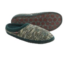 Haflinger Meadow Slippers - Boiled Wool (For Women) in Spruce - Closeouts
