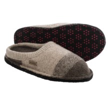 Haflinger Sally Boiled Wool Slippers (For Women) in Earth - Closeouts