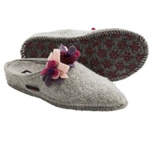 Haflinger Scarlett Slippers - Boiled Wool (For Women) in Grey - Closeouts
