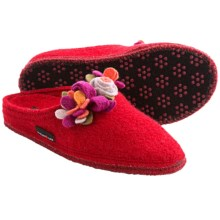 Haflinger Scarlett Slippers - Boiled Wool (For Women) in Red - Closeouts