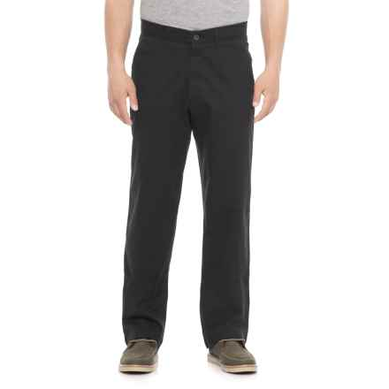 Haggar Coastal Comfort Chino Pants - Classic Fit (For Men) in Black - Overstock