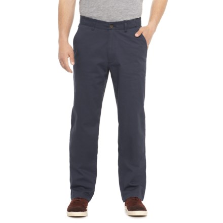 3dd3016a Haggar Coastal Comfort Chino Pants - Classic Fit (For Men) in Blue -  Overstock