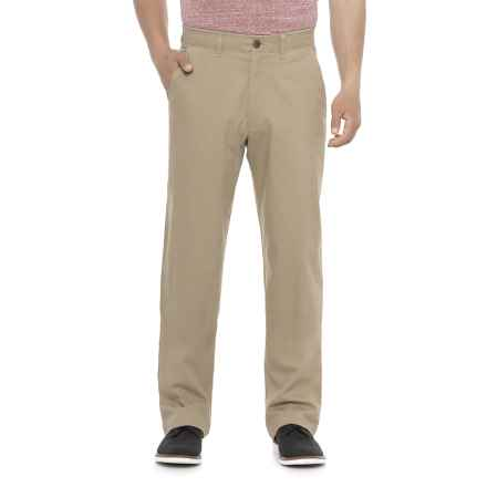 Haggar Coastal Comfort Chino Pants - Classic Fit (For Men) in Khaki - Overstock