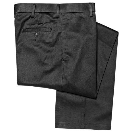 Haggar Maddox Pants - Cotton Twill, Flat Front (For Men) in Black
