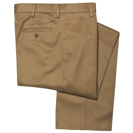Haggar Maddox Pants - Cotton Twill, Flat Front (For Men) in British Khaki