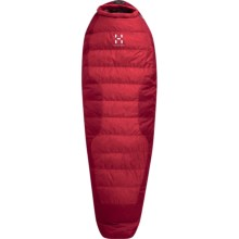 Haglofs 40°F Hypna 1S Down Sleeping Bag-  600 Fill Power, Mummy in Deep Red/Fire - Closeouts