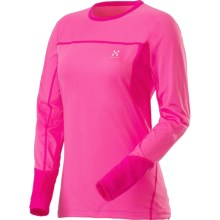 Haglofs Actives Regular Round Neck Base Layer Top - Long Sleeve (For Women) in Astral Pink/Cosmic Pink - Closeouts