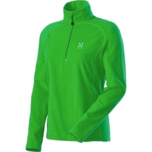 Haglofs Astro Pullover - Fleece, Zip Neck (For Women) in Bud Green - Closeouts