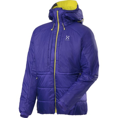 Haglofs Barrier Pro II Belay Jacket - Insulated (For Men) in Noble Blue/Firefly