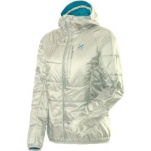 Haglofs Barrier Pro II Hooded Jacket - Insulated (For Women) in Soft White/Bluebird - Closeouts