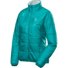 Haglofs Barrier Pro II Jacket - Insulated, Packable (For Women) in Bluebird/Soft White - Closeouts