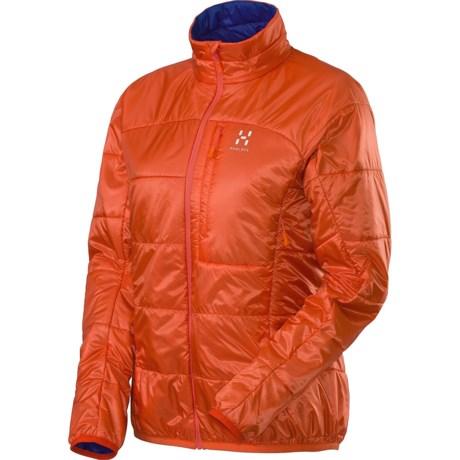 Haglofs Barrier Pro II Jacket - Insulated, Packable (For Women) in Firecracker/Noble Blue