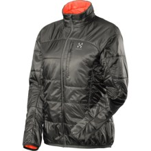 Haglofs Barrier Pro II Jacket - Insulated, Packable (For Women) in Magnetite/Firecracker - Closeouts
