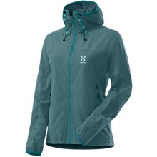 Haglofs Boa Hooded Jacket - Soft Shell (For Women) in Teal Blue - Closeouts