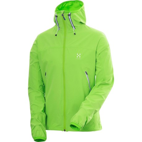 Haglofs Boa Hooded Soft Shell Jacket (For Men) in Mantis