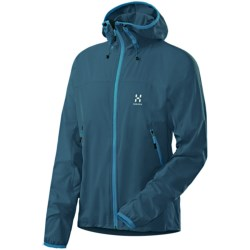 Haglofs Boa Hooded Soft Shell Jacket (For Men) in Strato Blue