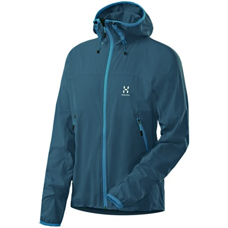 Haglofs Boa Hooded Soft Shell Jacket (For Men) in Braken