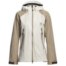 Haglofs Bora Jacket - Windstopper® (For Women) in Ivory/Basalt - Closeouts