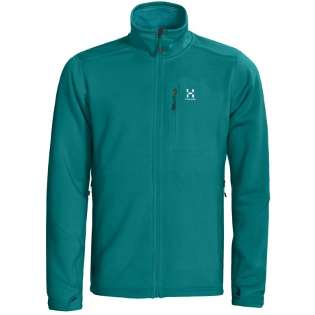 Haglofs Bungy Fleece Jacket - Polartec® Power Stretch® Pro (For Men) in Teal Bllue