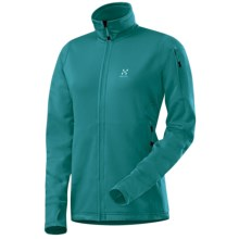 Haglofs Bungy Jacket - Polartec® Power Stretch® Pro (For Women) in Kolbri Blue - Closeouts
