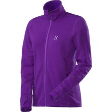 Haglofs Bungy Soft Shell Jacket - Polartec® Power Stretch® Pro (For Women) in Imperial Purple - Closeouts
