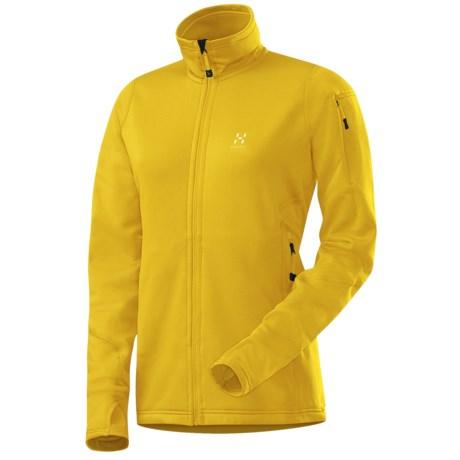 Haglofs Bungy Soft Shell Jacket - Polartec® Power Stretch® Pro (For Women) in Maize