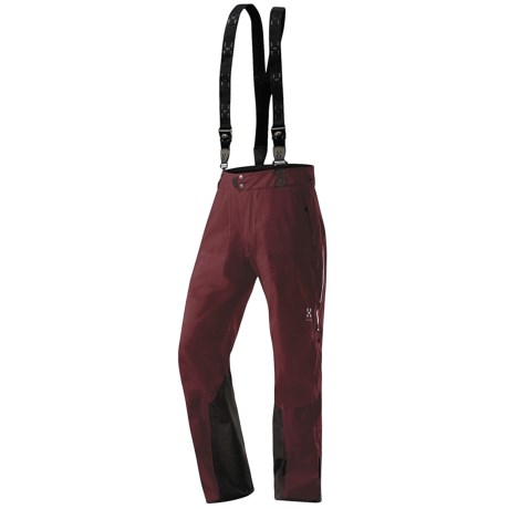 Haglofs Couloir Gore-Tex® Soft Shell Pants - Waterproof (For Men) in Mellow Red