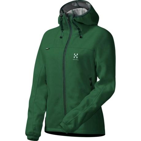 Haglofs Cyclone Q Fleece Jacket - Windstopper® (For Women) in Jungle Green