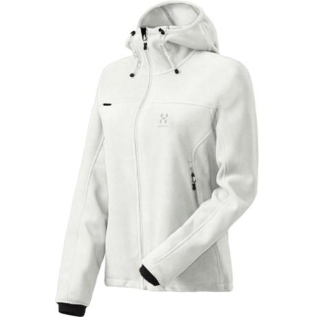 Haglofs Cyclone Q Fleece Jacket - Windstopper® (For Women) in Soft White