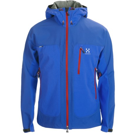 Haglofs Eryx Soft Shell Jacket - Windstopper® (For Men) in Speed Blue/Banner Blue