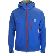 Haglofs Eryx Windstopper® Hooded Jacket - Soft Shell (For Men) in Speed Blue/Banner Blue - Closeouts