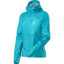 Haglofs Gram Q Gore-Tex® Shell Jacket - Waterproof (For Women) in Bluebird - Closeouts