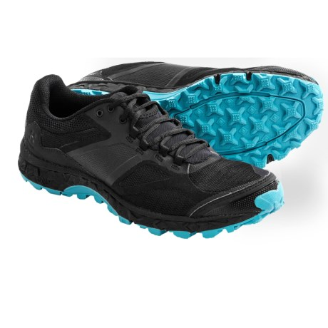 Haglofs Gram XC Q Trail Shoes - GEL® (For Women) in True Black/Blue Bird