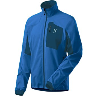 Haglofs Lizard Jacket - Soft Shell (For Men) in Oxy Blue/Strato Blue