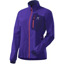 Haglofs Lizard Jacket - Soft Shell (For Women) in Meso Blue/Abyss Blue - Closeouts