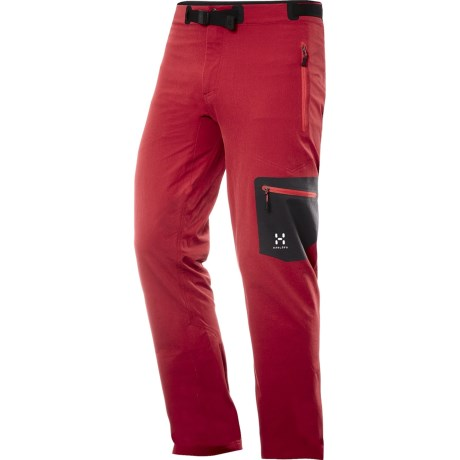 Haglofs Lizard Soft Shell Pants (For Men) in Deep Red