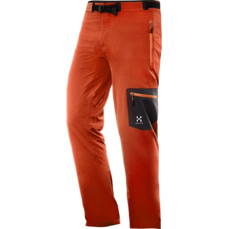 Haglofs Lizard Soft Shell Pants (For Men) in Dynamite