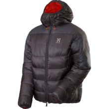Haglofs Magi II Down Hood Jacket - 800 Fill Power (For Men) in Magnetite/Dynamite - Closeouts
