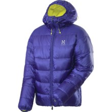 Haglofs Magi II Down Hood Jacket - 800 Fill Power (For Men) in Noble Blue/Firefly - Closeouts