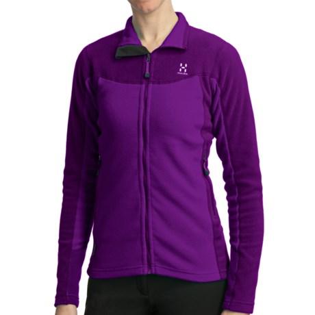 Haglofs Micro Q Jacket - Polartec® Classic Microfleece (For Women) in Griffon/Dragon
