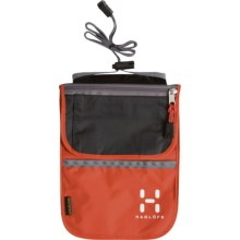 Haglofs Neck Pouch in Mandarin/Charcoal - Closeouts