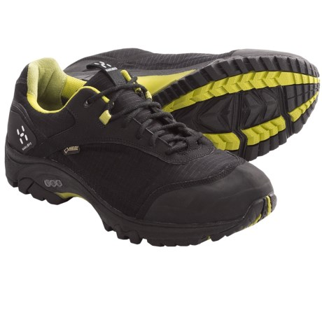 Haglofs Observe Gore-Tex® Trail Shoes - Waterproof (For Men) in Black/Budgie Green