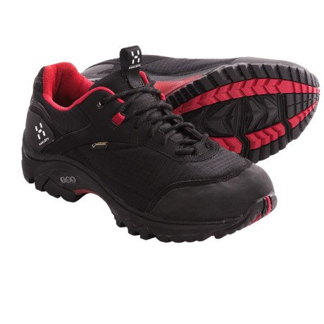 Haglofs Observe Gore-Tex® Trail Shoes - Waterproof (For Women) in Black/Deep Red