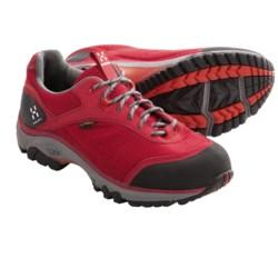 Haglofs Observe Gore-Tex® Trail Shoes - Waterproof (For Women) in Black/Deep Red