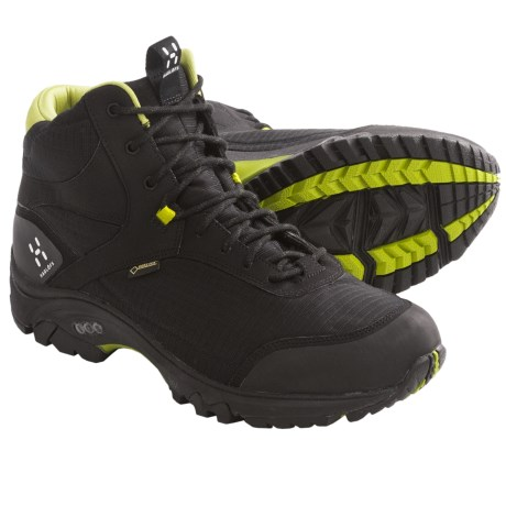 Haglofs Observe Mid Gore-Tex® Hiking Boots - Waterproof (For Men) in Black/Budgie Green